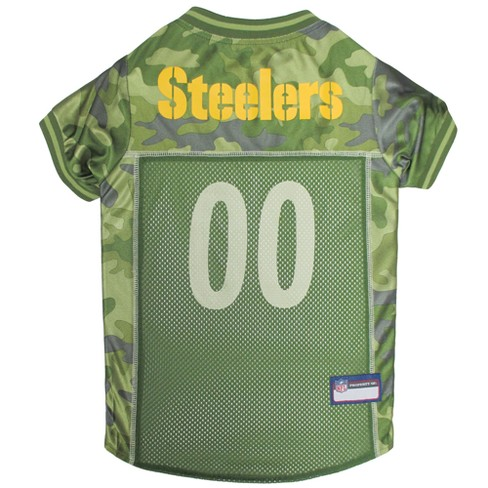 cd431e042 NFL Pets First Camo Pet Football Jersey - Pittsburgh Steelers   Target