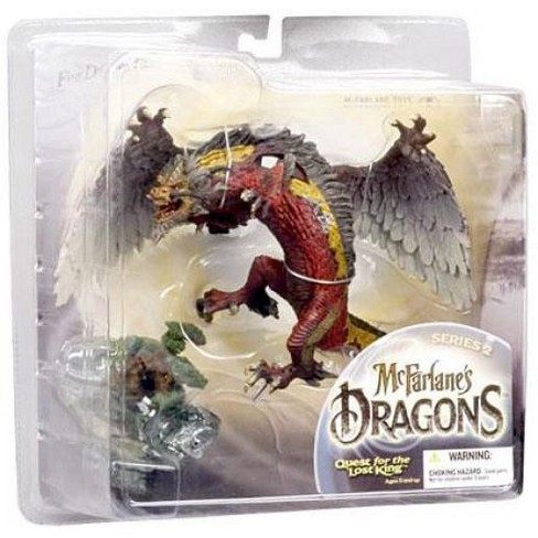 McFarlane Toys Dragons Quest for the Lost King Series 2 Fire Clan Dragon 2 Action Figure - image 1 of 3