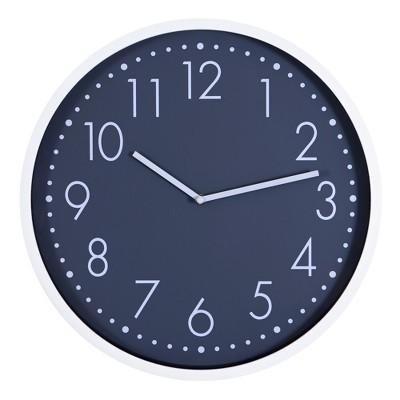 "16""x16"" Round Essential Wall Clock White/Dark Gray - Patton Wall Decor"
