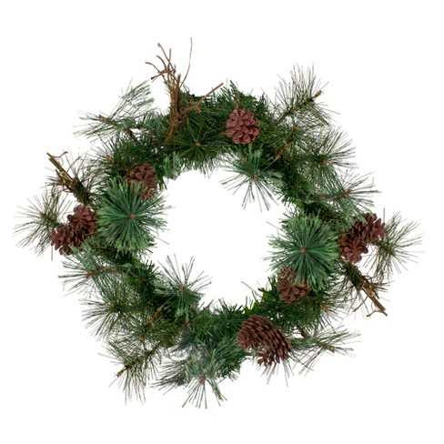 "Northlight 24"" Unlit Country Mixed Pine Artificial Christmas Wreath - image 1 of 3"