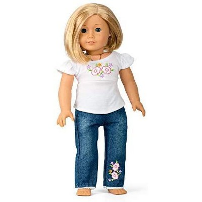 Dress Along Dolly Casual T-shirt & Jeans Outfit for American Girl Doll