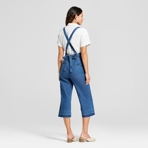 d26ad6daa59 Women s Tie Back Wide Leg Overall - Universal Thread™ Medium Wash   Target
