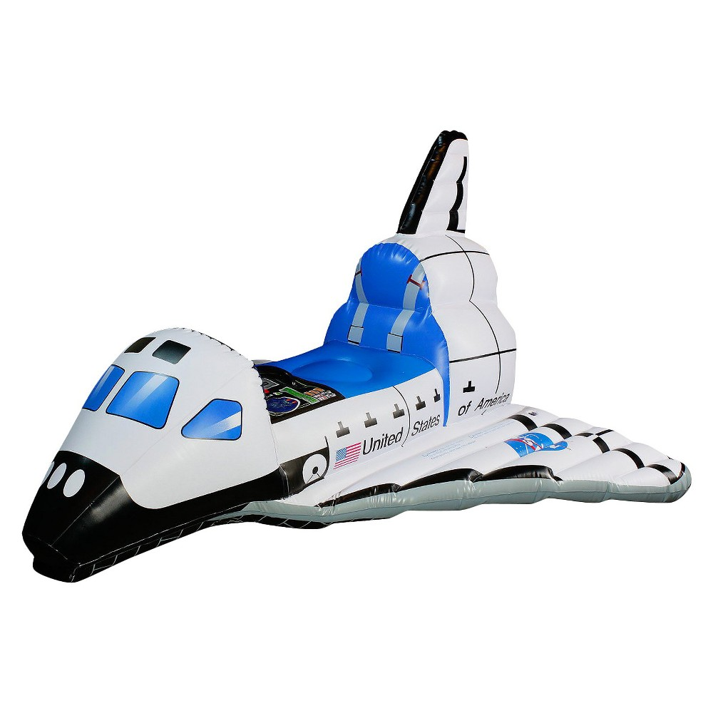 Kids' Jr. Space Explorer Inflatable Space Shuttle Costume, White/Blue