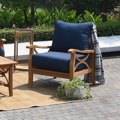 Abbington Teak Patio Lounge Chair with Cushion - Cambridge Casual