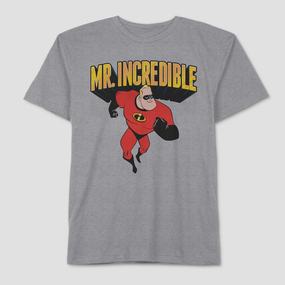 Men's Big & Tall The Incredibles Father's Day Incredible Dad Short Sleeve Graphic T-Shirt - Mystic Grey 4XLT, Gray