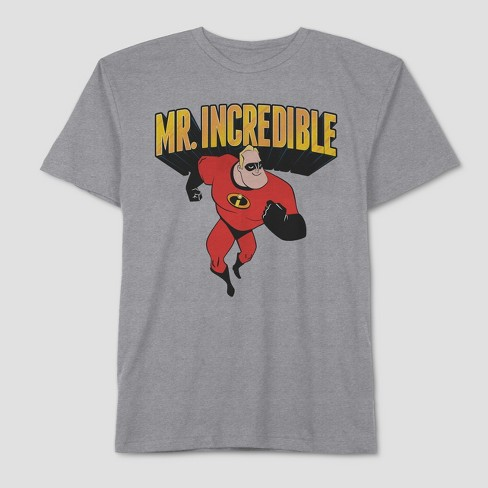 94e535368a Men's Big & Tall The Incredibles Father's Day Incredible Dad Short Sleeve  Graphic T-Shirt - Mystic Grey