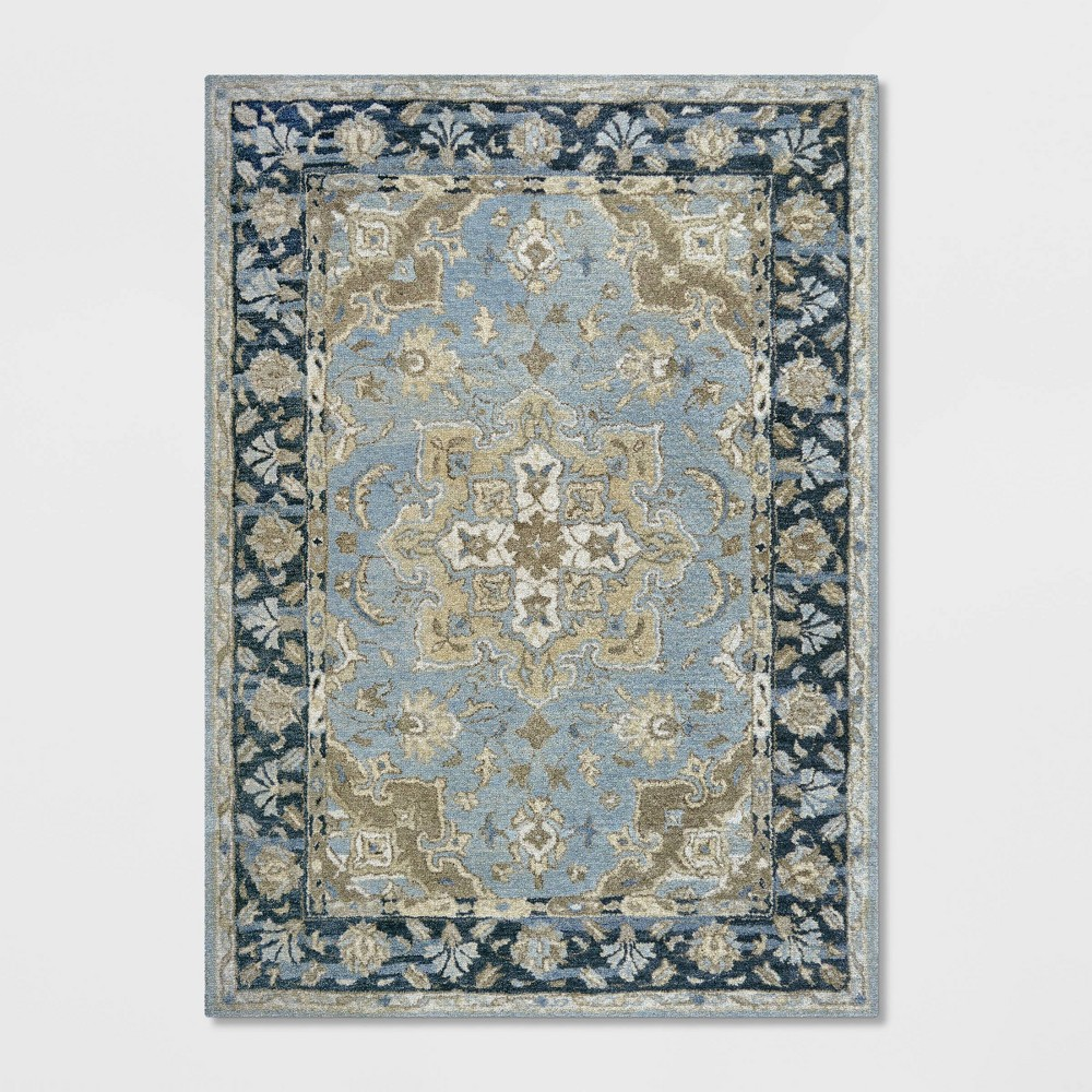 5'X7' Floral Tufted Area Rug Blue - Threshold was $179.99 now $89.99 (50.0% off)