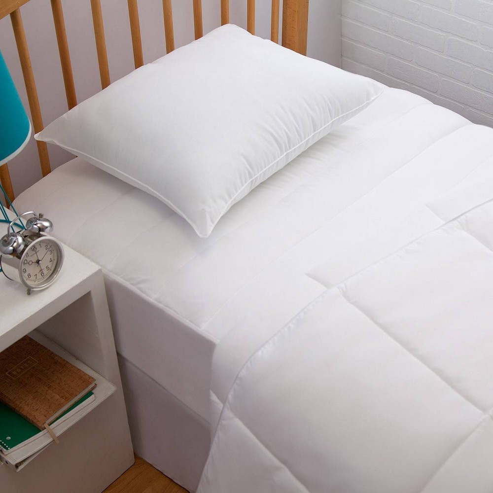 Image of Allied Home Down Alternative Twin Dorm Kit (Inc. Comforter, Pillow and Mattress Pad) - White