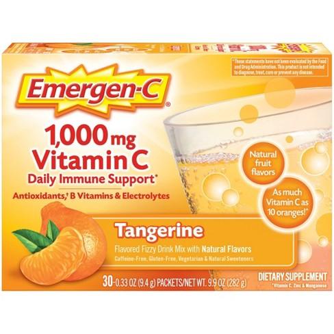 Emergen-C Vitamin C Dietary Supplement Drink Mix - Tangerine - 30ct - image 1 of 4