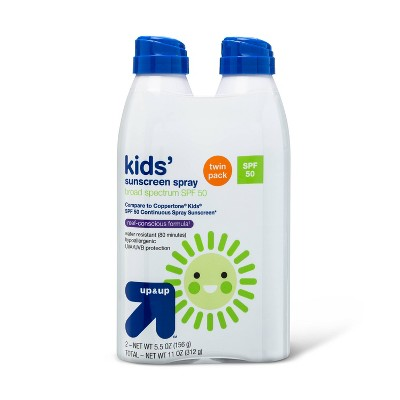 Kids Sunscreen Spray SPF 50 Twin Pack - 11oz - Up&Up™