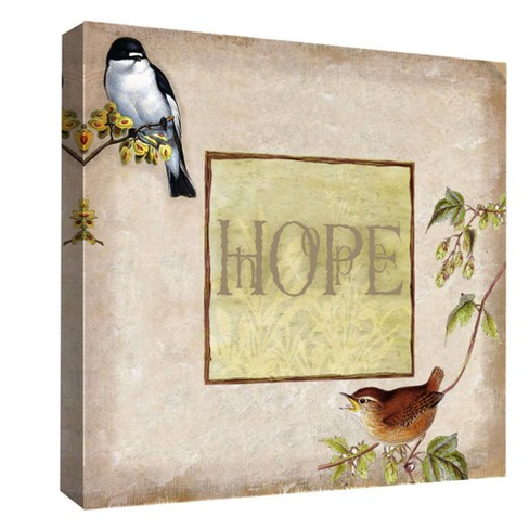 "Hope II Decorative Canvas Wall Art 16""x16"" - PTM Images - image 1 of 1"