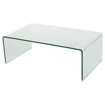 Ramona Glass Rectangle Coffee Table Clear - Christopher Knight Home : Target