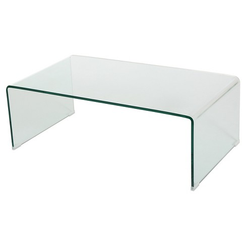 Ramona Glass Rectangle Coffee Table Clear - Christopher night Home - image 1 of 4