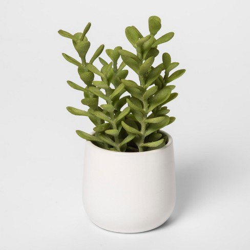 """8"""" x 4"""" Artificial Succulent In Pot Green/White - Threshold™ - image 1 of 1"""