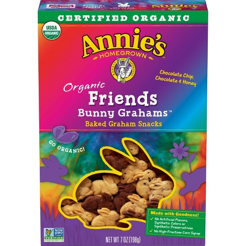 Annie's Organic Friends Bunny Grahams Chocolate Chip & Honey Baked Snacks - 7oz - image 1 of 3