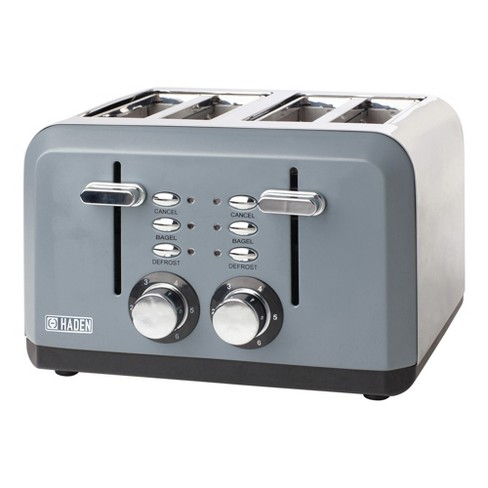 Haden 75007 Perth Wide Slot Stainless Steel Body Countertop Retro 4 Slice Toaster with Adjustable Browning Control, Slate Gray - image 1 of 4