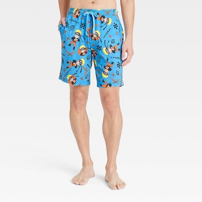 Men's Naruto Pajama Shorts - Light Blue