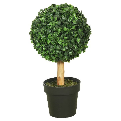 Artificial Boxwood Topiary (10in) Green - Vickerman® - image 1 of 1