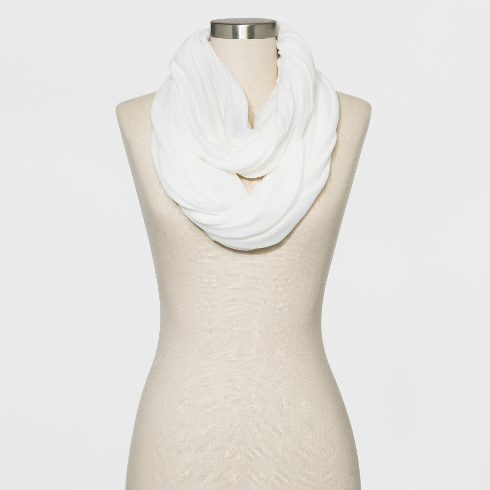 Image of Collection XIIX Women's Loop Scarf - White, Size: Small