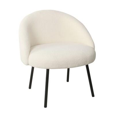 Modern Sherpa Accent Chair - HomePop