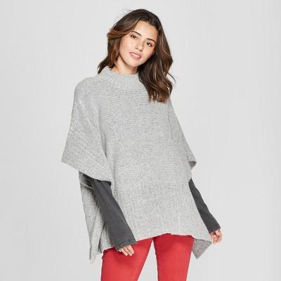4d184730e71ea Women s Rib Mix Poncho Sweater - Universal Thread™   Target