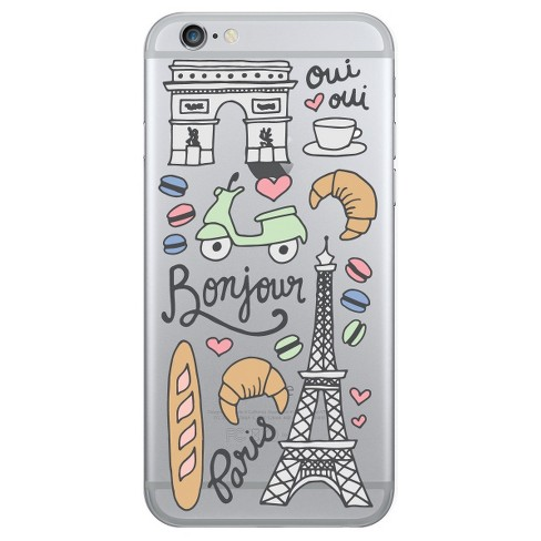 iPhone 7/6s/6 OTM Prints Clear Phone Case Bonjour Paris Pink Mint - OTM Essentials® - image 1 of 1