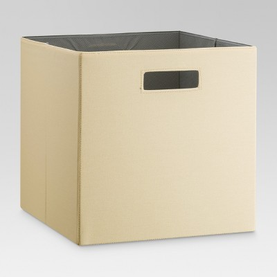 13  Fabric Cube Storage Bin Yellow - Threshold™