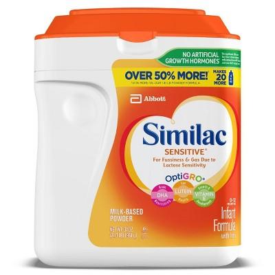 Similac Sensitive Infant Formula with Iron Powder - 34oz