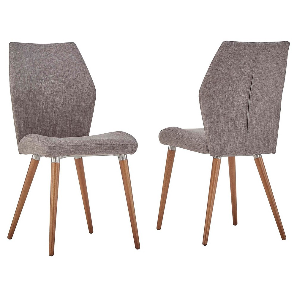 Winona Natural Mid Century Angled Chair (Set of 2) - Smoke (Grey) - Inspire Q
