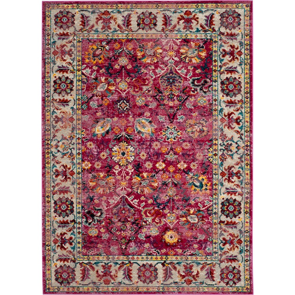 6'X9' Floral Loomed Area Rug Violet/Gray (Purple/Gray) - Safavieh
