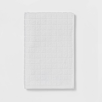 Grid Texture Hand Towel White - Room Essentials™