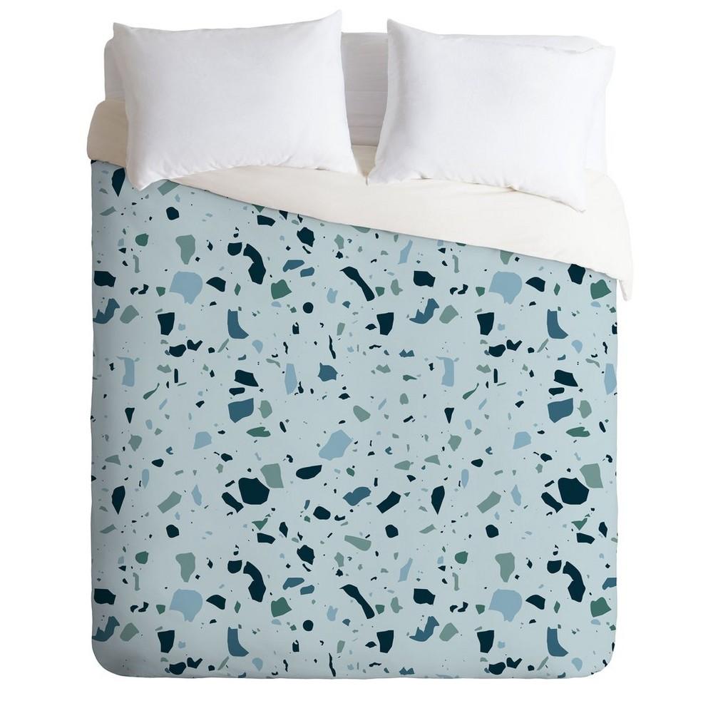 King Mareike Boehmer Scandinavian Elegance Terrazzo Duvet Set Blue - Deny Designs