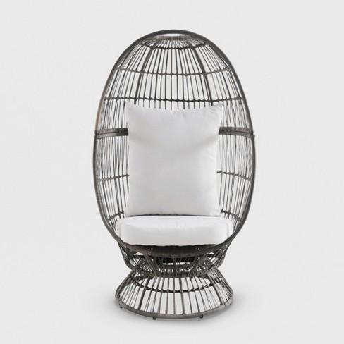 The Egg Chair.Latigo Swivel Patio Egg Chair Brown Opalhouse