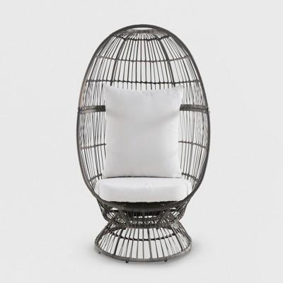 Latigo Swivel Patio Egg Chair Brown   Opalhouse™