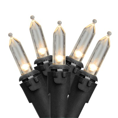Northlight 100ct LED Mini Christmas Lights White - 33' Black Wire