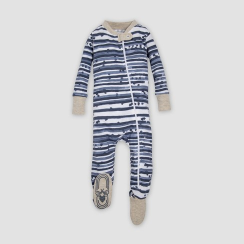 19628ab53bee Burt s Bees Baby® Organic Cotton Starry Stripes Footed Sleeper ...