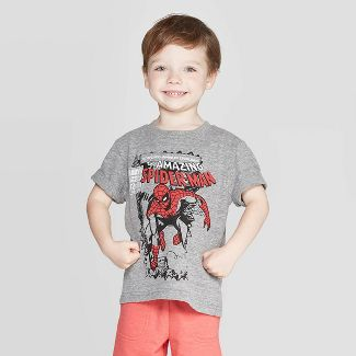 Toddler Boys' T-Shirt Spider-Man Charcoal Heather 18 M