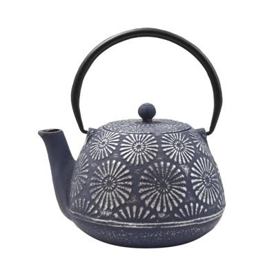 "Frieling ""Hani"", Cast Iron Teapot, 40 fl. oz. , Blue/Silver"