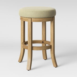 Cheshire Round Farmhouse Swivel Counter Stool Cream - Threshold™