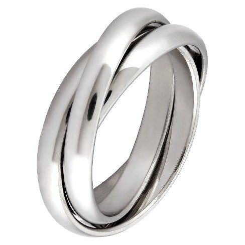 West Coast Jewelry Stainless Steel Intertwined Triple Band Ring - image 1 of 3