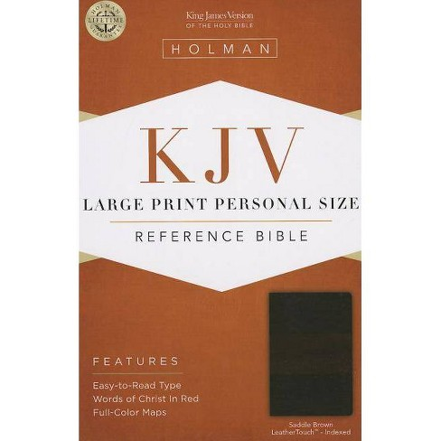 Large Print Personal Size Reference Bible-KJV - (Leather_bound) - image 1 of 1