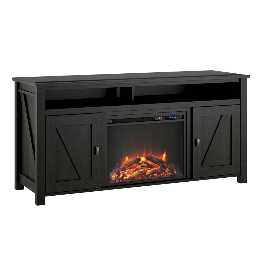 60 Brookside Electric Fireplace TV Console Black - Room & Joy
