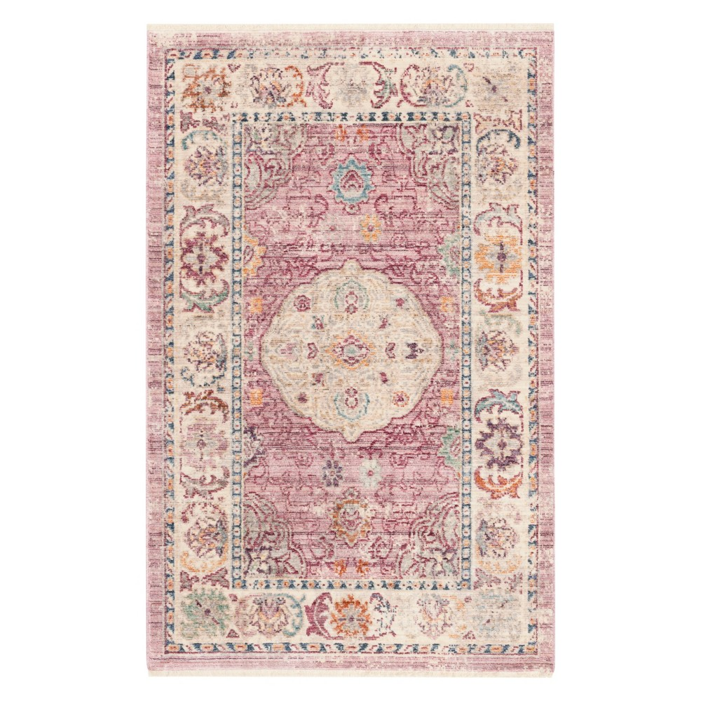 Rose/Cream (Pink/Ivory) Medallion Loomed Accent Rug 3'X5' - Safavieh