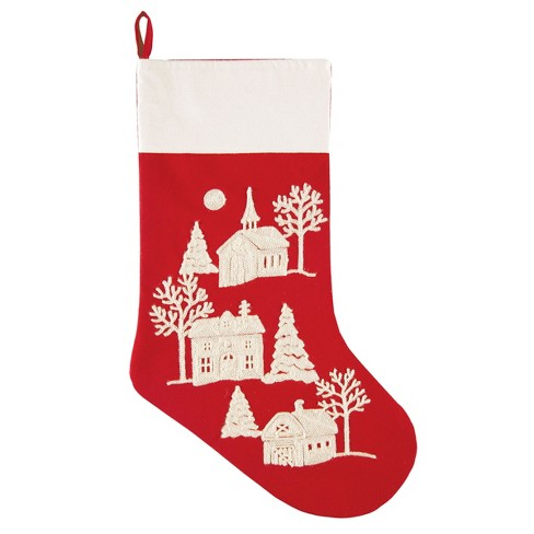 C&F Home Peaceful Village Stocking - image 1 of 1