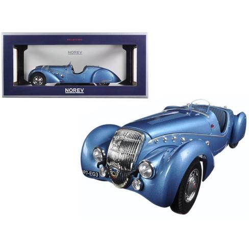 1937 Peugeot 302 Darl Mat Roadster Blue Metallic 1/18 Diecast Model Car by Norev - image 1 of 1