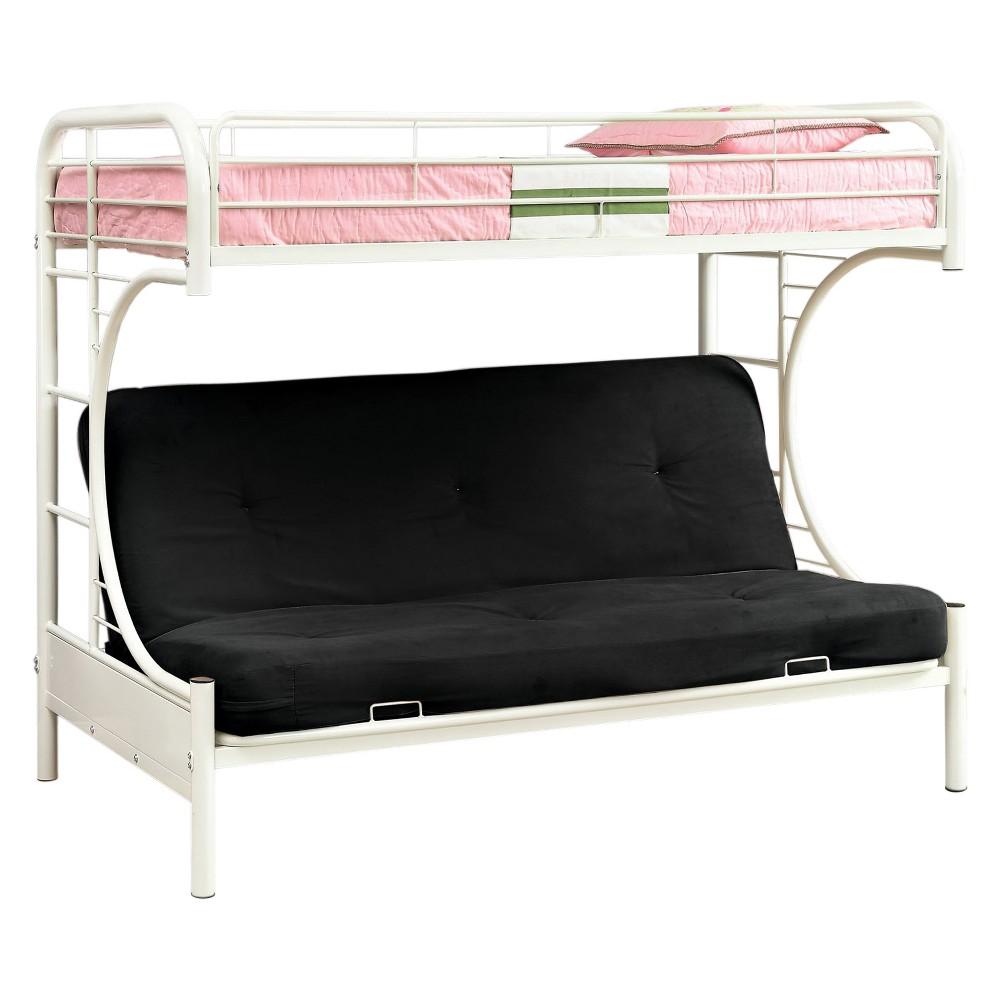 Sonna Bunk Bed Twin Futon White - miBasics