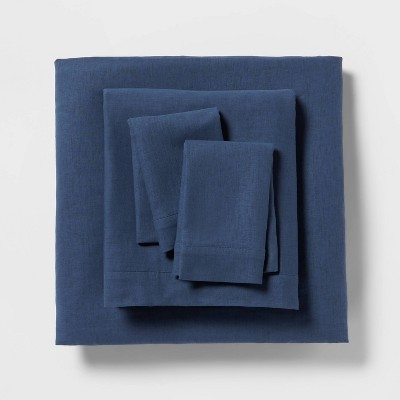 Linen Blend Solid Sheet Set - Threshold™