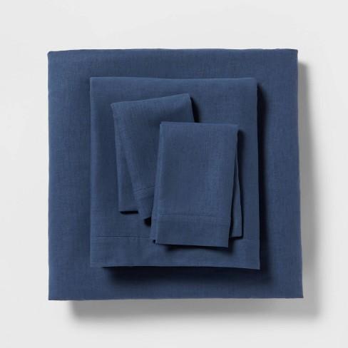 Linen Blend Solid Sheet Set - Threshold™ - image 1 of 4