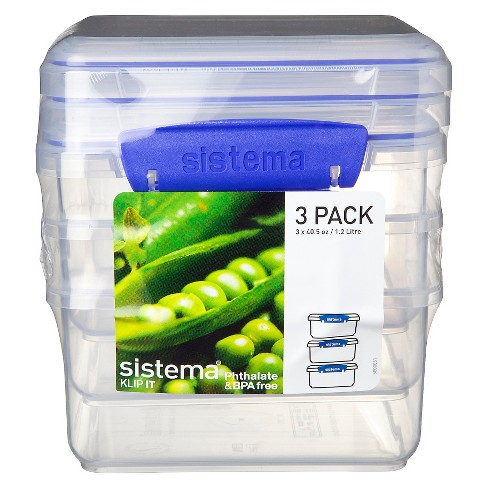 Sistema Klip It 3pk 40.5 oz.  Containers - image 1 of 3