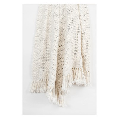 Throw Blankets 50 X60  White - Rizzy Home